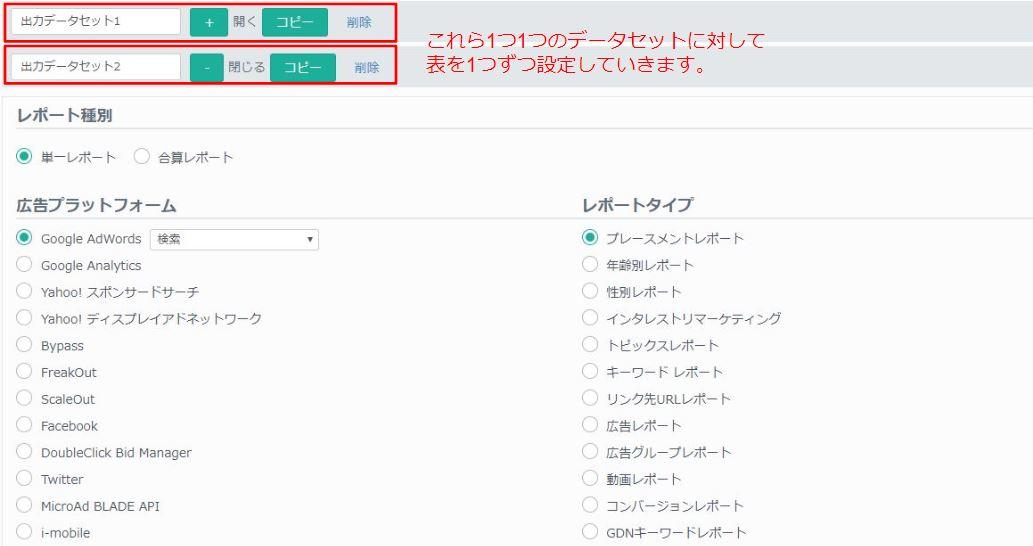 データセット概要 | アドレポ - 運用型広告レポート自動作成ツール